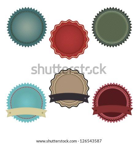 6 Promo Badges, Isolated On White Background - stock photo