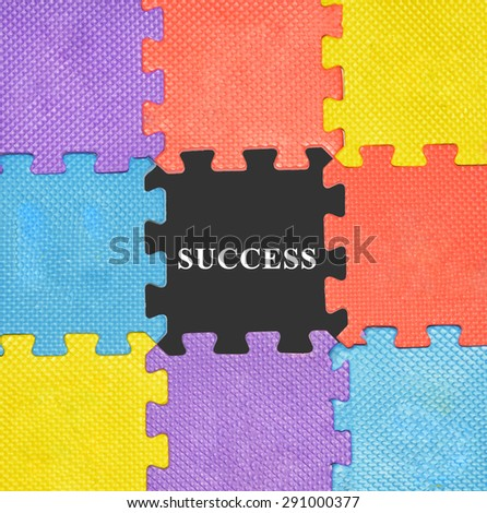 puzzle or jigsaw with concept  - stock photo