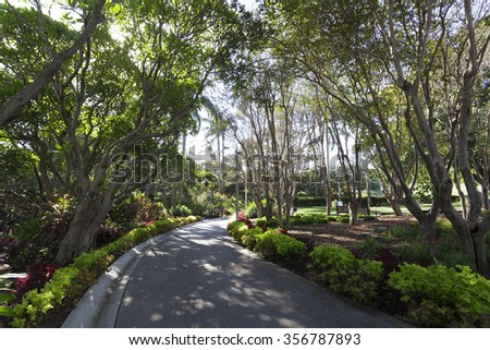 Queensland Brisbane City Park - stock photo