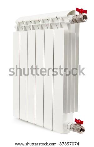 radiator isolated on the white background - stock photo