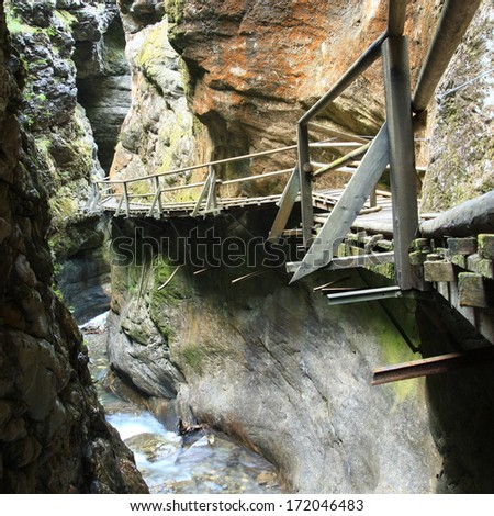 Raggaschlucht Gorge  - stock photo