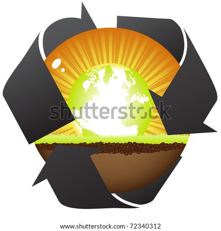(raster image) natural recycling - stock photo