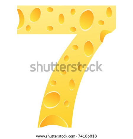(raster image) number seven - stock photo