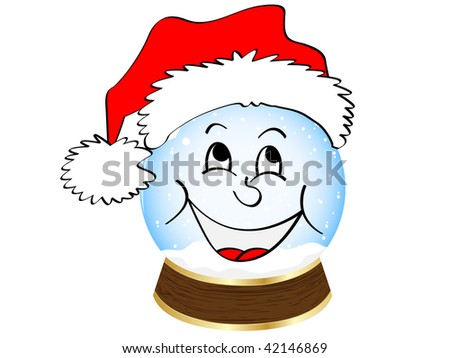 (raster image of vector) christmas globe - stock photo