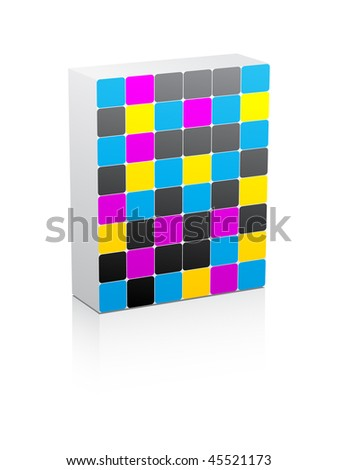 (raster image of vector) CMYK colors - stock photo