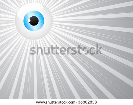 (raster image of vector) eye vector illustration - stock photo