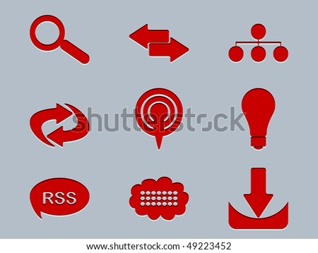 (raster image of vector) icons - stock photo