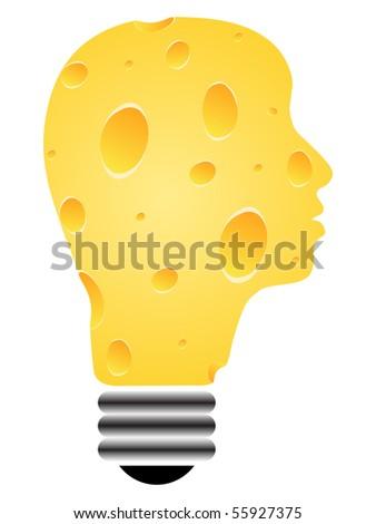 (raster image of vector) Light bulb - stock photo