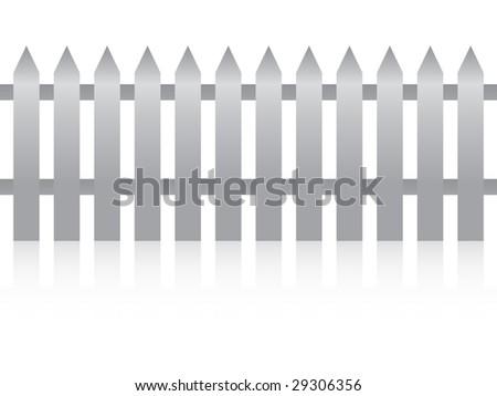 (raster image of vector) metallic fence - stock photo