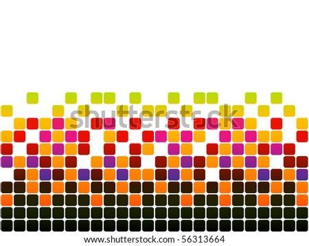 (raster image of vector) pixels - stock photo