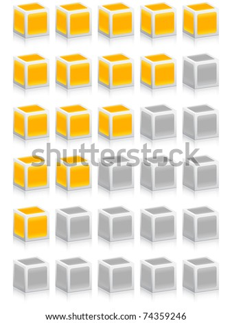 (raster image) rating boxes - stock photo