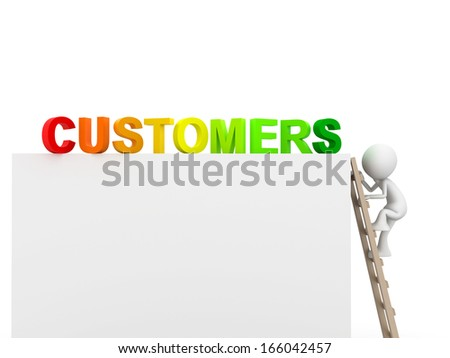 Reach your customers - stock photo