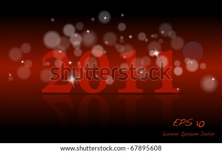2011 Red background - stock photo