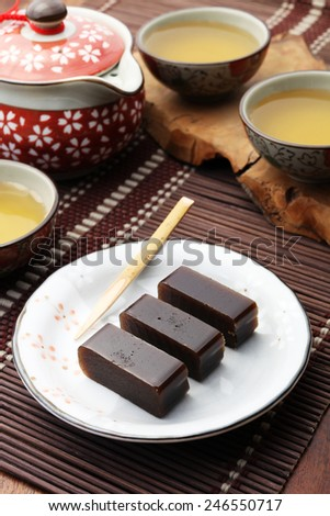 red bean jelly  - stock photo