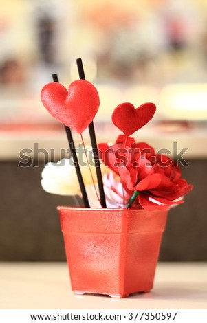 Red Hearts/red hearts background on valentines - stock photo