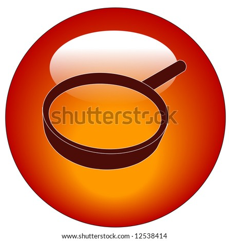 red magnifying glass web button or icon - stock photo