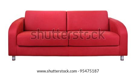 Red sofa - stock photo