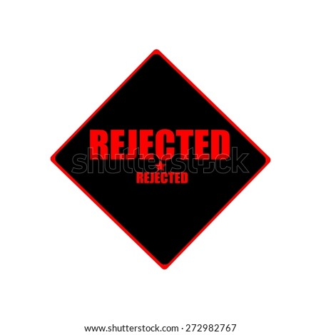 rejected red stamp text on black background - stock photo