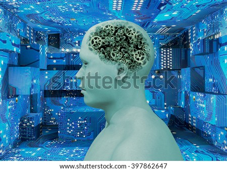 """rendering 3D"" mental gears - stock photo"
