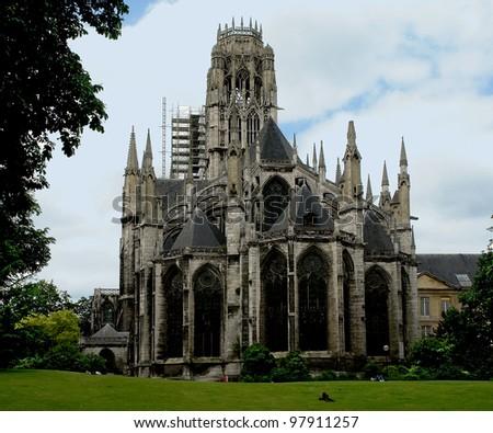 Rouen Abbey Church of Saint-Ouen - stock photo