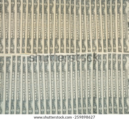 2 rows of multiple two dollar bills - stock photo