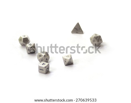 RPG dices isolated on white - stock photo