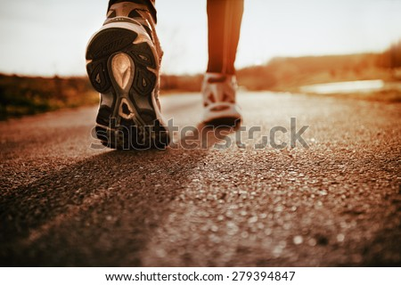 Running shoes closeup  - stock photo