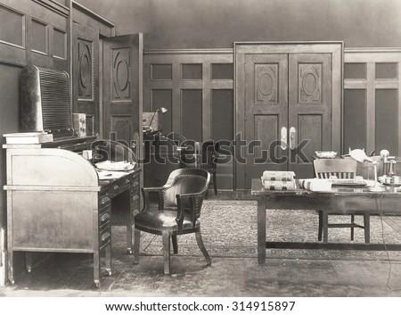 1920s office Part 2 - stock photo