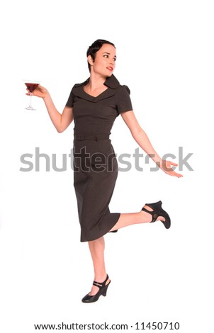1920s party girl. - stock photo