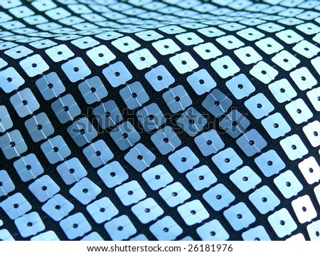 80s style sequined textile closeup. More of this motif & more fabrics in my port. - stock photo