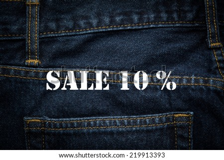 sale 10% in white background - stock photo