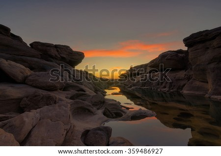 Sam-Pan-Bok Grand Canyon, Ubon Ratchathani, Thailand - stock photo