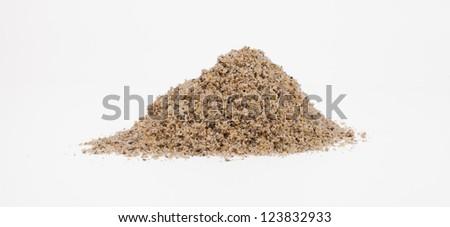 sand pile isolated on white - stock photo