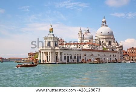 """""""Santa Maria della Salute"""" church in Venice, Italy - stock photo"""