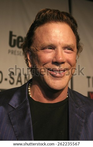 04/01/2005 - Santa Monica - Mickey Rourke at the Timothy Greenfield-Sanders XXX: 30 Porn-Star Portraits West Coast Exhibit opening at the Bergamot Station Santa Monica Museum of Art. - stock photo