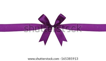 satin ribbon on white background - stock photo