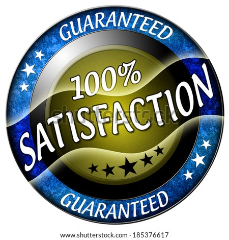 100 satisfaction round red icon isolated - stock photo