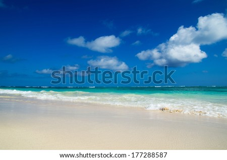 sea beach. Vacation and Tourism concept.  - stock photo