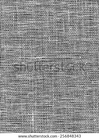 Seamless Gray Burlap Background. Natural texture of coarse canvas woven from jute, hemp, or a similar fiber, used esp. for sacking. - stock photo