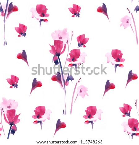 """.Seamless watercolor paintings. Abstract watercolor hand painted backgrounds. Album """"Seamless water color with the backgrounds."""" - stock photo"""