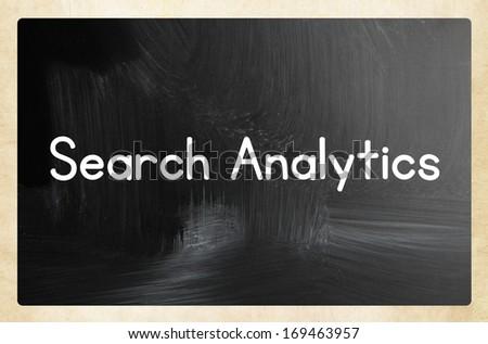 search analytics concept - stock photo