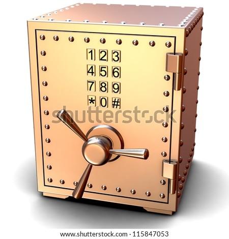 Security metal safe - stock photo
