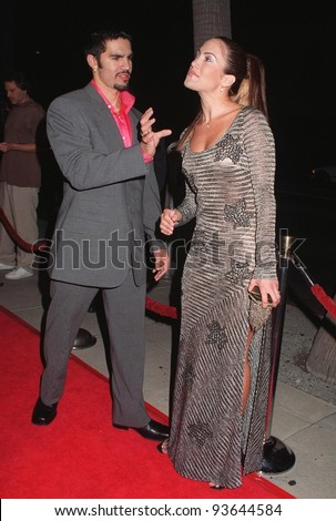 """22SEP97:  Actress JENNIFER LOPEZ & husband at the premiere of her new movie, Oliver Stone's """"U-Turn."""" - stock photo"""