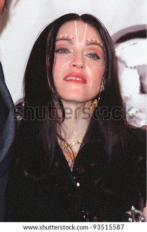 09SEP98: Pop star MADONNA at the MTV Video Music Awards in Los Angeles. - stock photo