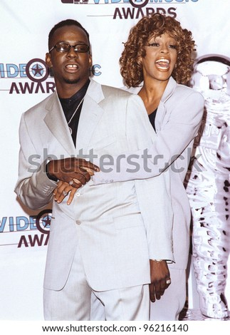 09SEP98: Singer/actress WHITNEY HOUSTON & husband BOBBY BROWN at the MTV Video Music Awards in Los Angeles. Picture: Paul Smith / Featureflash - stock photo