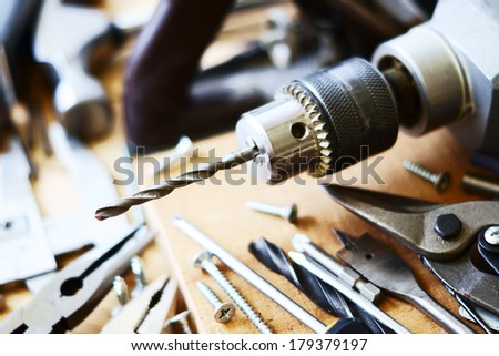 Set Bench joiner tool                               - stock photo