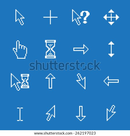 set of different mouse cursors,  - stock photo