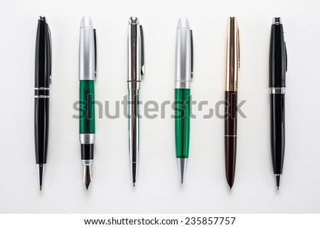 Set of different pens   - stock photo