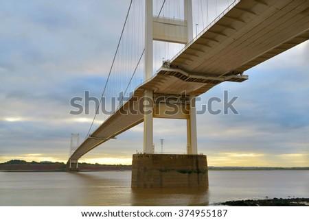 Severn Bridge UK                           - stock photo