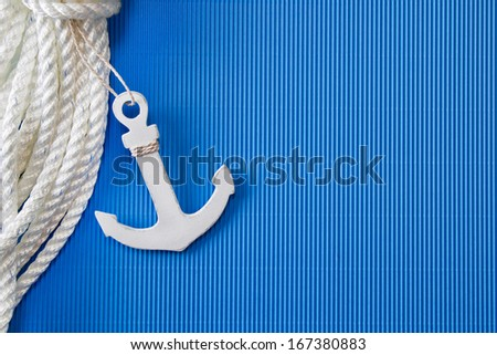 Ship anchor - anchor or lifeline as maritime decorations - stock photo
